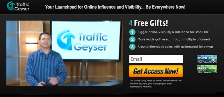Traffic Geyser – 21 Day Dollar Trail